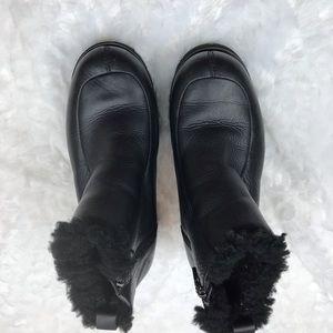 UGG Shoes - Ugg Brooklyn Black Leather Platform Ankle Boots